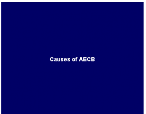 Causes of AECB
