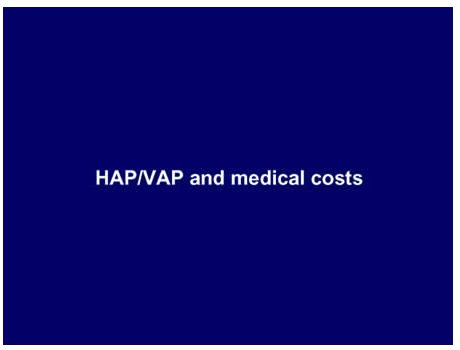 HAP-VAP and medical costs