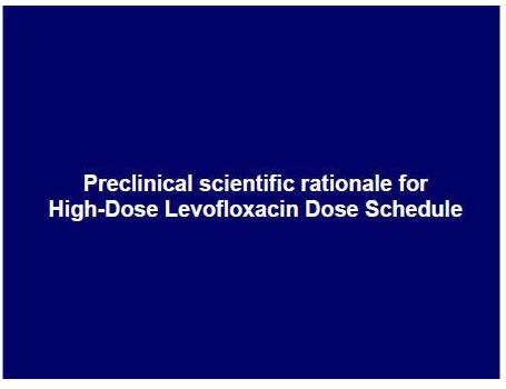 Preclinical scientific rationale for High-Dose Levofloxacin Dose Schedule